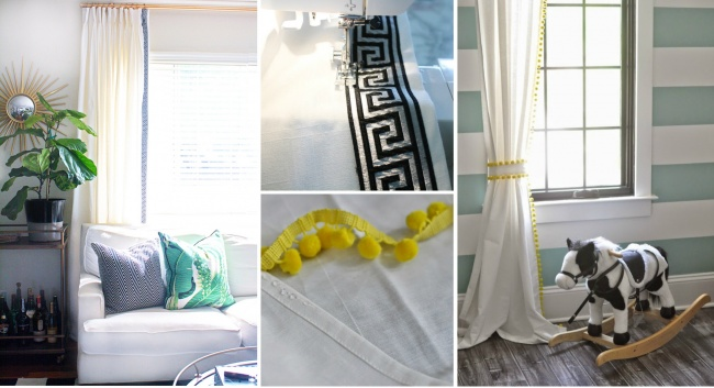 CAMBIA EL LOOK DE TUS CORTINAS CON UNA SIMPLE CENEFA