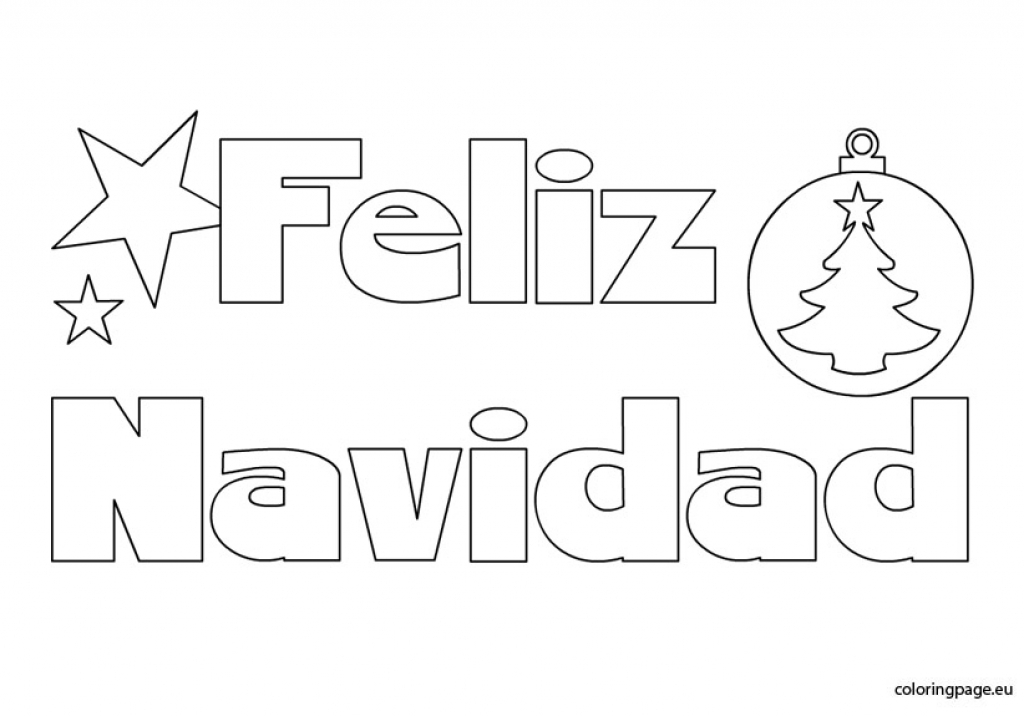 Feliz Navidad Coloring Page regarding Feliz Navidad Coloring Pages to Inspire   in coloring picture - Beautiful Color Art