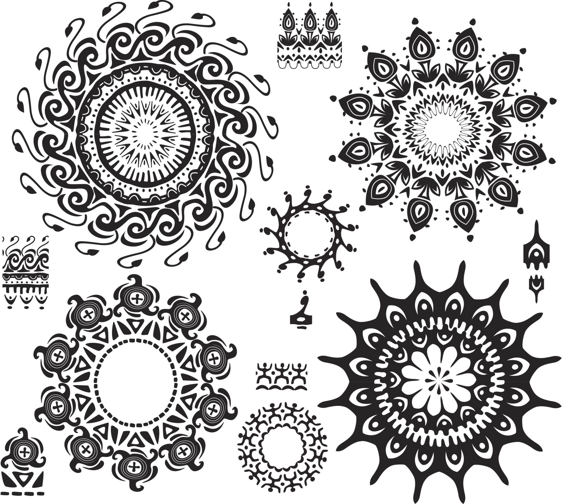 Set of ornamental pattern